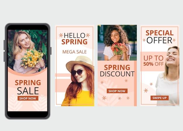 Kolekcja opowiadań instagram na wiosnę