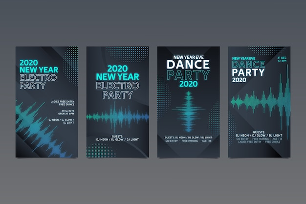 Kolekcja opowiadań instagram z nowego roku 2020
