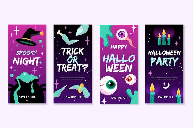 Kolekcja opowiadań na halloween na instagramie