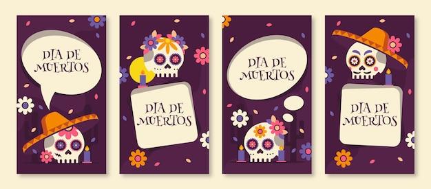 Kolekcja opowiadań na instagramie día de muertos