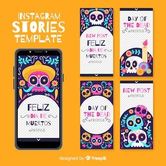 Kolekcja opowiadań na instagramie dii de muertos