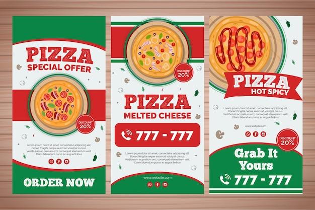 Kolekcja opowiadań na instagramie dla restauracji pizzerii
