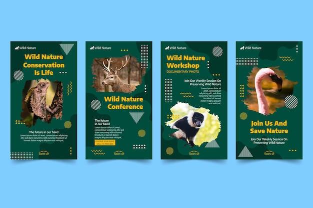 Kolekcja opowiadań na instagramie dzikiej przyrody