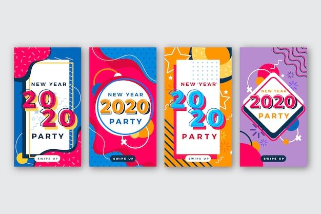 Kolekcja opowiadań na instagramie nowego roku 2020