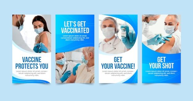 Kolekcja opowiadań na instagramie o szczepionkach gradientowych