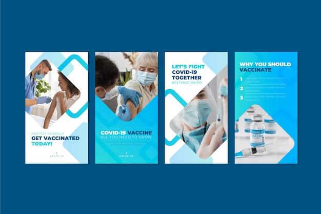 Kolekcja opowiadań na instagramie o szczepionkach gradientu