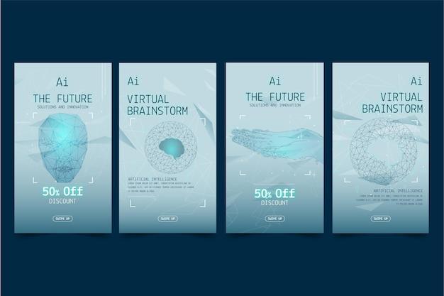 Kolekcja opowiadań na instagramie o sztucznej inteligencji