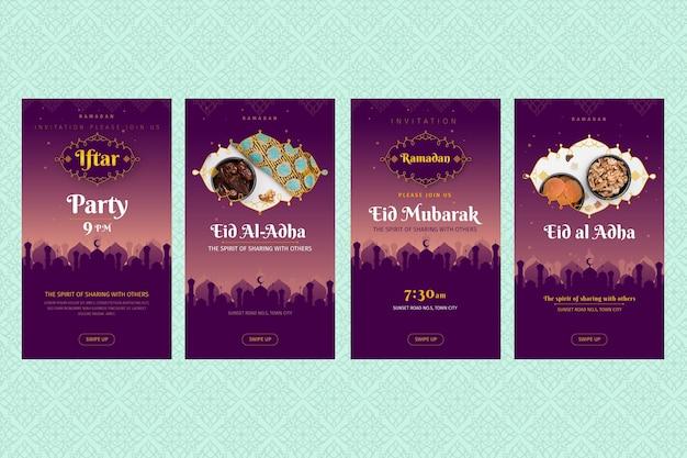 Kolekcja opowiadań na instagramie ramadan