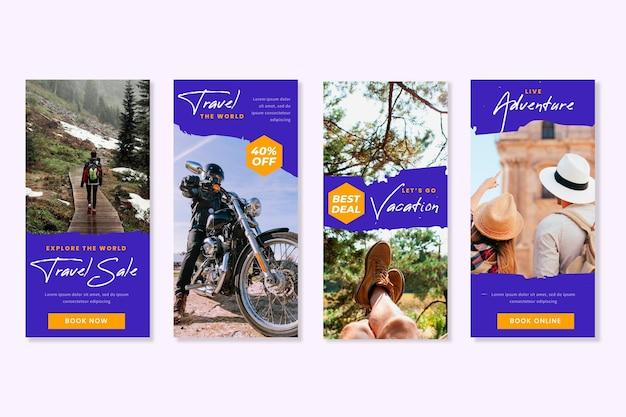Kolekcja opowiadań na instagramie w sprzedaży podróży