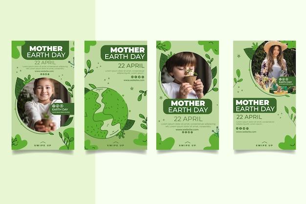 Kolekcja opowiadań na instagramie z okazji dnia matki ziemi