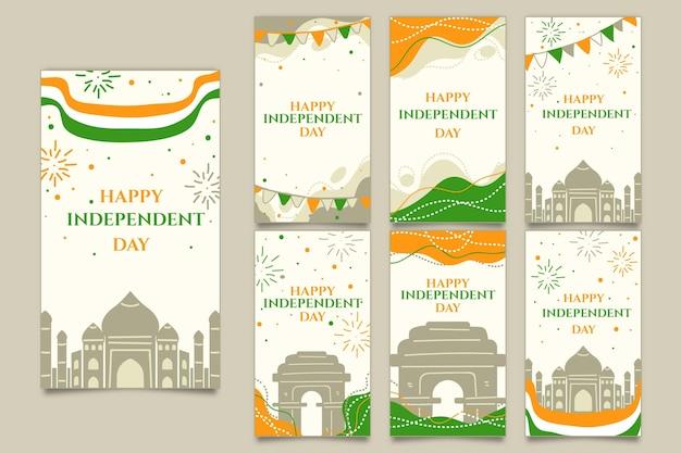Kolekcja opowiadań na instagramie z okazji dnia niepodległości indii