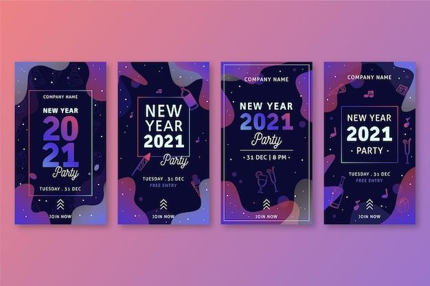 Kolekcja opowiadań na instagramie z okazji nowego roku 2021
