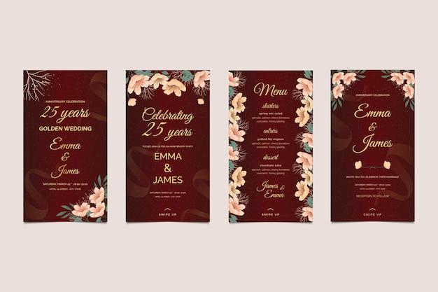 Kolekcja opowiadań na instagramie z okazji rocznicy ślubu