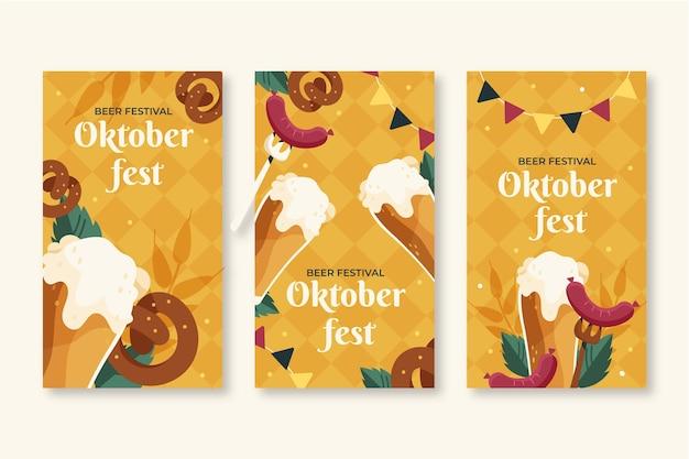 Kolekcja opowiadań na instagramie z oktoberfest