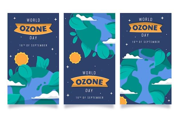 Kolekcja opowiadań na temat światowego dnia ozonu na instagramie