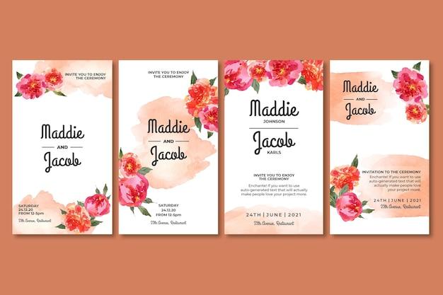 Kolekcja opowiadań o kwiatowym ślubie na instagramie