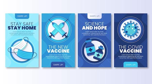 Kolekcja opowiadań o szczepionkach na instagramie