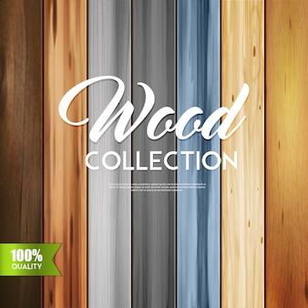 Kolekcja ozdobnego drewna
