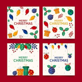 Kolekcja ozdobnych kart świątecznych