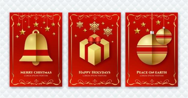 Kolekcja ozdobnych kartek świątecznych