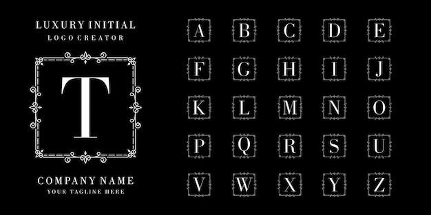 Kolekcja ozdobnych logo monogram lub pierwsza litera