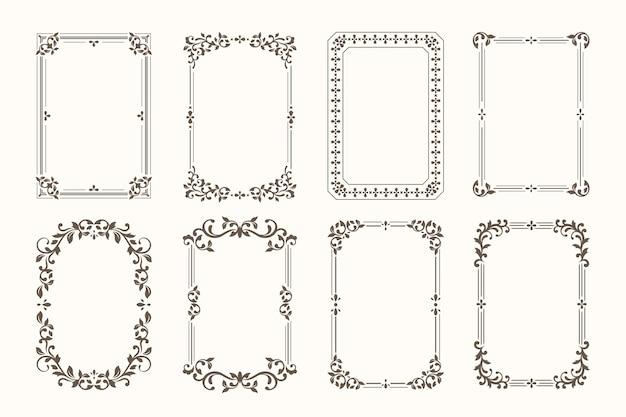 Kolekcja ozdobnych ramek kaligraficznych