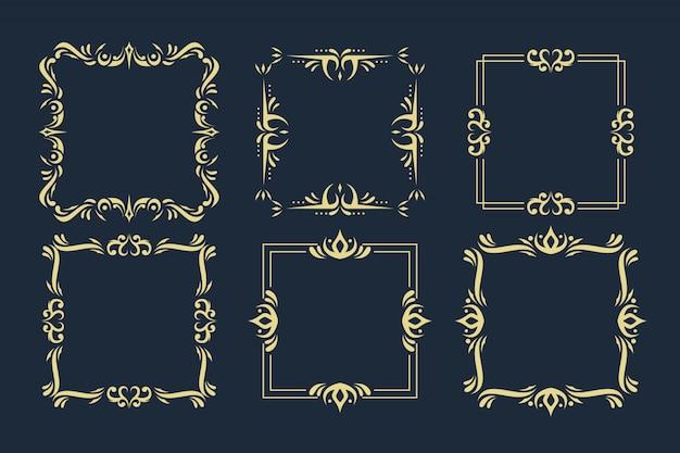Kolekcja ozdobnych ramek