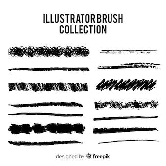 Kolekcja pędzli Illustratora