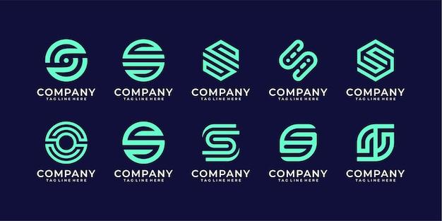Kolekcja pakietu projektu logo litery s