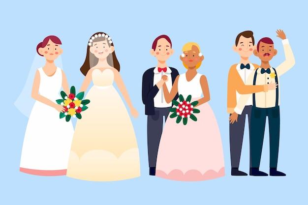 Kolekcja par ślubnych