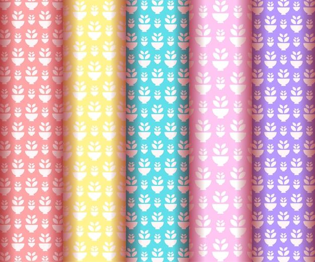 Kolekcja pastelowe wzór