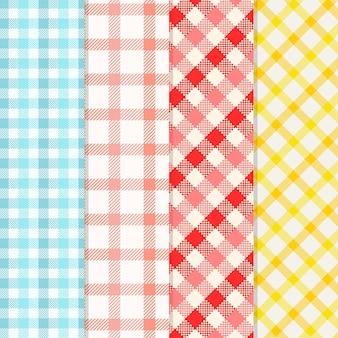 Kolekcja pastelowych wzorów w kratkę