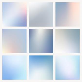 Kolekcja pastelowych zimowych wektorów tła