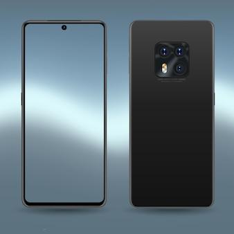 Kolekcja perspektywiczna makiet smartfona