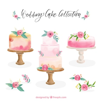 Kolekcja piękna tortów urodzinowych