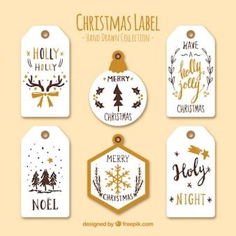 Kolekcja piękne christmas etykiet