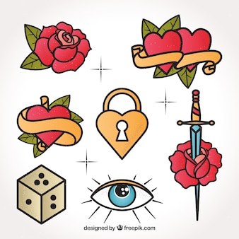 Kolekcja piękne tatuaż