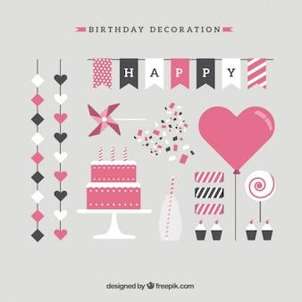Kolekcja pięknej dekoracji urodziny