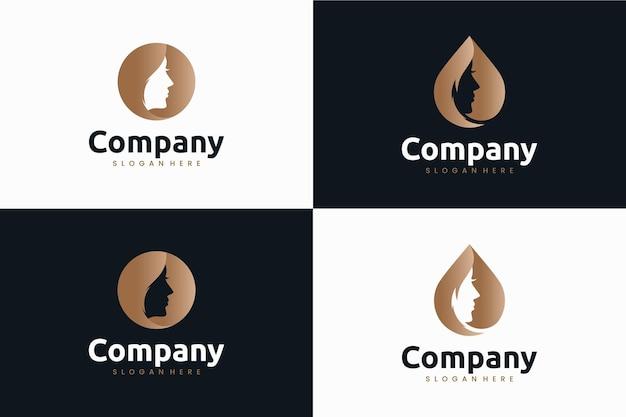 Kolekcja piękności, inspiracja do projektowania logo