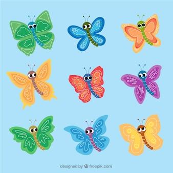 Kolekcja pięknych motyli dziecinnych