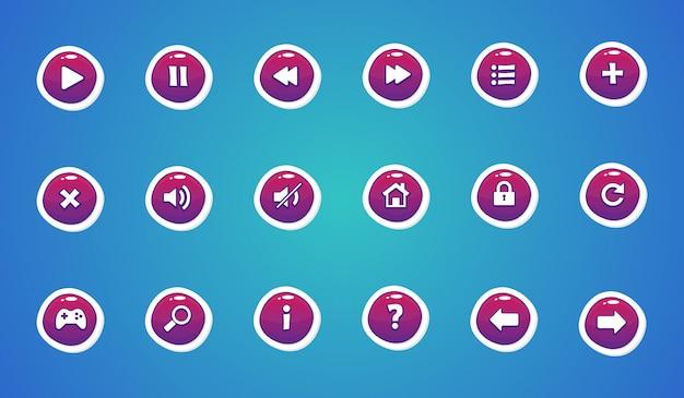 Kolekcja pięknych przycisków dla interfejsu użytkownika