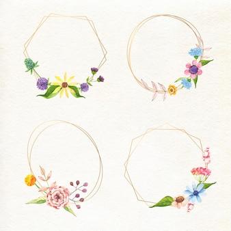 Kolekcja pięknych ramek kwiatowych