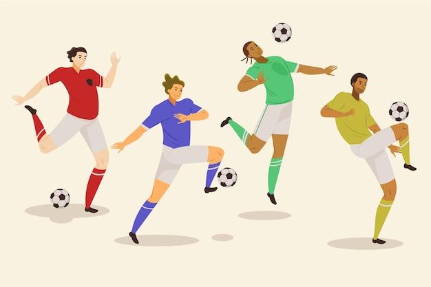 Kolekcja piłkarzy