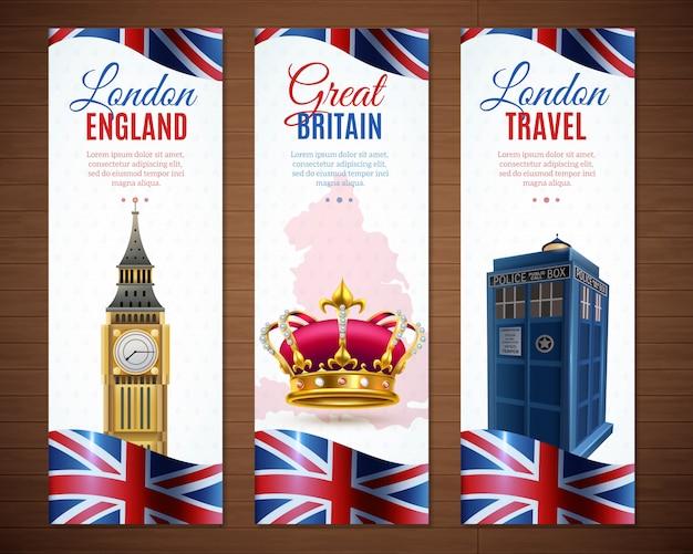 Kolekcja pionowych banerów w londynie
