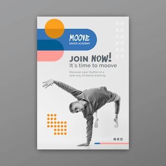 Kolekcja pionowych plakatów klas tańca