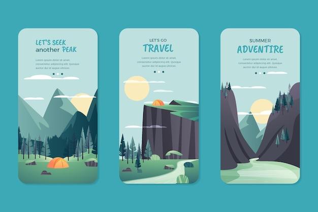 Kolekcja pionowych ulotek adventure