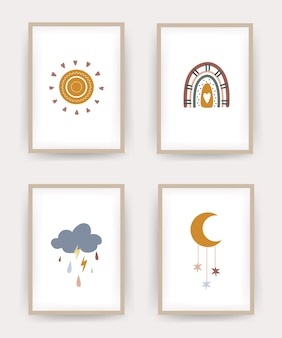 Kolekcja plakatów boho