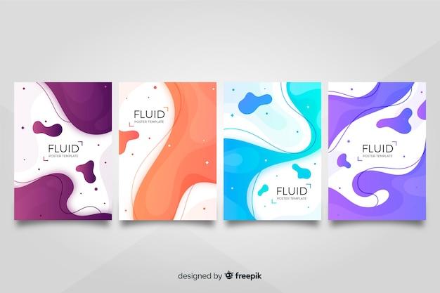 Kolekcja plakatów fluid