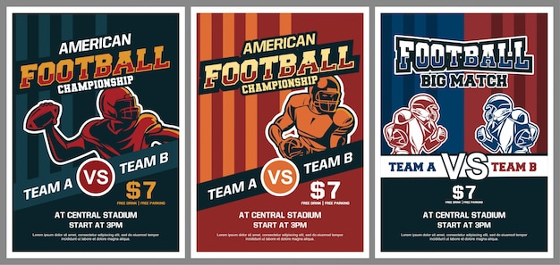 Kolekcja plakatu futbolu amerykańskiego