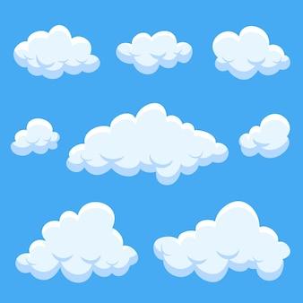 Kolekcja płaska chmura